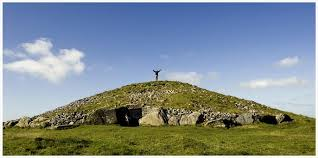Irish shaman at the ancient sacred site of Lough Crew