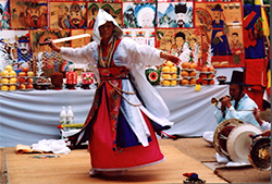 Sword dance by Korean shaman